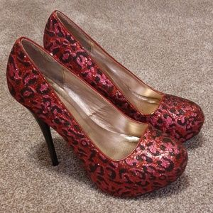 Pink, Red & Black 4 inch stiletto heels